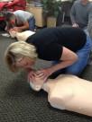 Glenda and Sue deliver rescue breaths